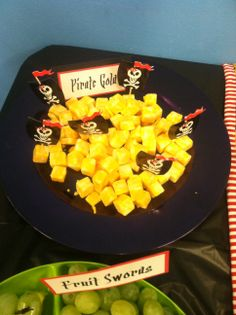 Pirate Party - Pirate Gold - Cheese Squares