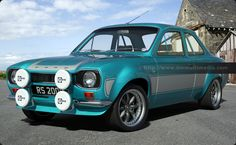 """Escort MK1 RS2000 in Light Blue with Light Grey Stripes, 15"""" inch Image Alloys"""
