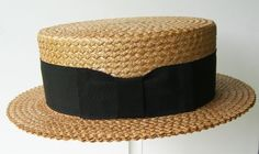 Vintage Kaiser Summer Straw Mens Boater Hat Very good vintage condition Label - Kaiser, Greenwich Village, New York Interior measurement - 22 3 high, 1 brim I do ship Internationally. Straw Projects, Boater Hat, Cool Hats, Classy Women, Dusty Rose, Boho Chic, Mens Fashion, Vintage Hats, My Style