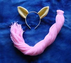 My Little Pony Fluttershy Costume Cosplay Set Ears and Tail Adult Child. $30.00, via Etsy.