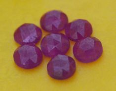 Red Ruby rose cut gemstone 4 by 4 by to approx Crystal Beads, Crystals, Bad Photos, Chakra Stones, Ruby Rose, Heart Chakra, Healing Stones, Gemstones, Red