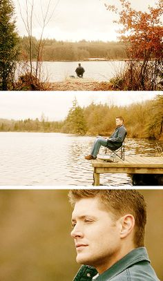 [gifset] Dean dreaming about fishing. 4x20 The Rapture #SPNS4  #Dean