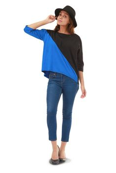 Kate Assymetric Top - chic and super comfy knit top to wear everywhere! Made in USA