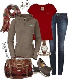 """rust & brown casual"" by enjoytheview on Polyvore"