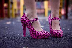 spike, animals, birthdays, alter heel, animal prints, pink shoes, girls shoes, shoessss pretti, leopard prints