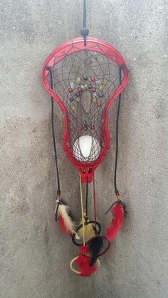 Lacrosse themed dream catcher
