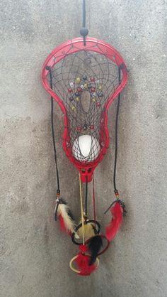 Lacrosse themed dream catcher