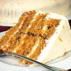 Simple carrot cake @ allrecipes.co.uk, made it twice this week! deeeeeelish :P