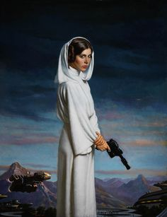 Princess Leia /by Daniel E. Greene #StarWars #art