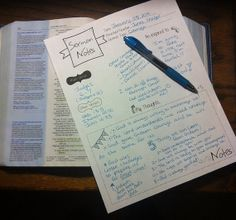 Sermon Notes Template | Notes template, Note and Bible