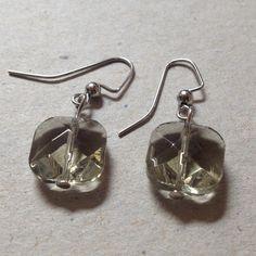 Dangle earrings. Smokey color crystal on silver pierced. Daffodil90 Jewelry Earrings