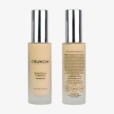 Going Crunchihas never been easier, with our nutrient rich, lightweight medium to full coverage, buildable foundation. Vitamins C & E will brighten your skin & provide antioxidant-rich coverage while soothing Aloe Leaf gives a lightweight moisture, perfect for all skin types. We also recognize that it is not only what goes in the package, but the package itself. All of our liquid foundations come tightly sealed in an eco-friendly glass bottle, giving you confidence that it will remain toxin…
