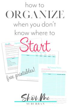 Not sure where to start organizing your home? This simple process will help you prioritize your organizing projects and decide where to start. Includes tips, ideas, and free printables! Game Organization, Refrigerator Organization, Entryway Organization, Laundry Room Organization, Organized Entryway, Organized Bedroom, Organized Kitchen, How To Organize Your Closet, Organizing Your Home