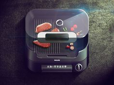Grill iOS Icon by ALEX BENDER
