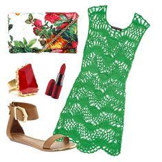 """Crochet Dress 2*"" by camila-maffessoni on Polyvore"