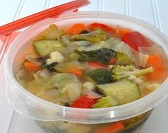 Weight Watchers zero point veggie soup.  I need to start making this again!