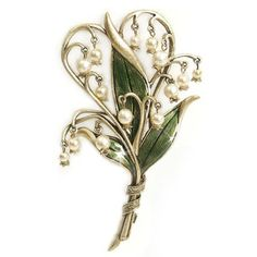Sweet Romance Lily of the Valley Pin - Overstock™ Shopping - Big Discounts on Sweet Romance Brooches & Pins