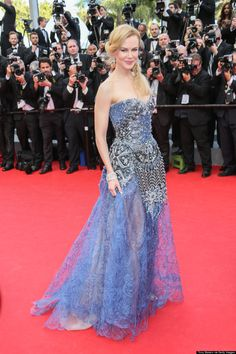 Red-carpet looks from the Cannes Film Festival: Nicole Kidman in Armani Privé. Elena Lenina, Nicole Kidman Style, Cannes Film Festival 2015, Armani Privé, Embellished Gown, Nice Dresses, Formal Dresses, Red Carpet Looks, Red Carpet Fashion