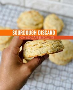 Super simple, easy biscuits with that flaky texture you crave! These biscuits utilize sourdough discard too, so you can use up your leftover, unfed, discarded starter and prevent waste. Sourdough Biscuits, Cheddar Biscuits, Sourdough Recipes, Easy Biscuits, Sourdough Starter Discard Recipe, Almond Flour Recipes, Leftovers Recipes, Pancakes, Muffins