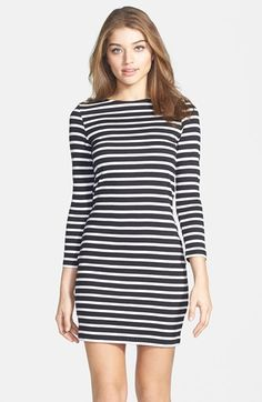 French Connection Stripe Cotton Body-Con Dress available at #Nordstrom