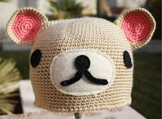 kawaii character bear hat