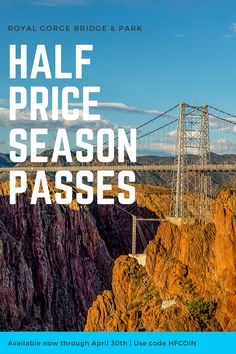 Looking for Places to See in Southern Colorado with your family and friends? Visit Colorado's Top Attraction, The Royal Gorge Bridge! Colorado Springs Attractions, Stuff To Do, Things To Do, Royal Gorge, Visit Colorado, Places To See, Bridge, Scenery, Seasons