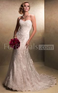 Mermaid lace wedding dresses. This would be the perfect dress, if the lace was full all the way done. Like the top.