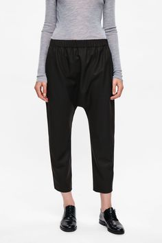 COS Drop-crotch wool trousers