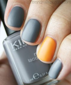 gray + tangerine (matte)