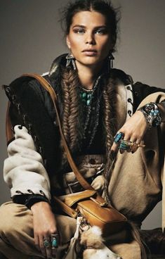 Into the Wild | Irina Vodolazova | Benjamin Kaufmann #photography | Grazia UK 2011 | #bohemian