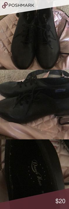 2186297de31 Black tap dance shoes size 8 Great condition wore it only for college dance  class for few months come with free ballet bag Shoes