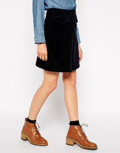 Sessun Elie Pleat Skirt in Corduroy $11.50