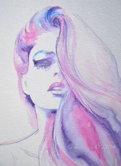 La Belle Fashion Print from Watercolor Original Illustration - Fashion…