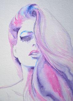 La Belle Fashion Print from Watercolor Original Illustration - Fashion…
