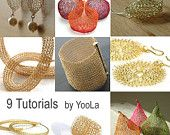 Yoola on etsy has tutorials for crocheting with wire to make all those shapes!