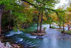The Guadalupe River in Texas - best tubing river!  Amy P and I tubed this river!!!  Amazing!!!