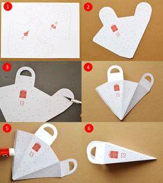 Calendrier de l'avent à imprimer | Blog Pluie de confettis