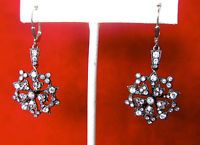 Pair of Antique Sterling Silver & Paste Earrings