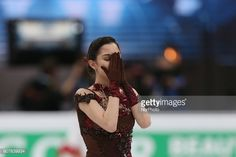 Figure skater Evgenia Medvedeva of Russia performs during the ladies' free skating event at the 2018 ISU European Figure Skating Championships, at Megasport Arena in Moscow, Russia, on January 20,...