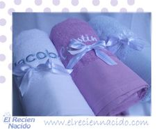 toallas bebe bordadas con nombre