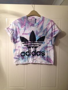 unisex customised adidas tie dye cropped t shirt by mysticclothing