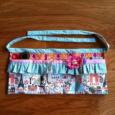 Seamstress apron perfect for keeping your essential sewing tools close at hand. Made using the Girly Tool Belt pattern from Vanilla House designs.