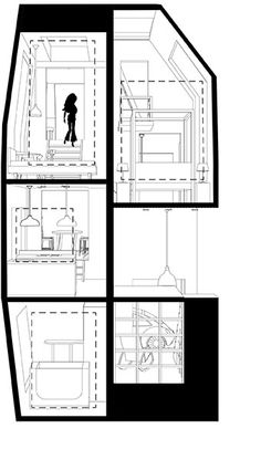 Spiral Dollhouse - Architecture BRIO, Mumbai / India  - Section 2 #ArchitectureDrawing
