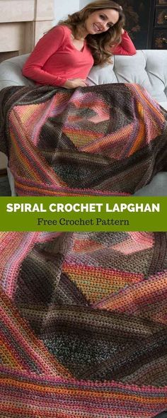 Yarnspirations is the spot to find countless free easy crochet patterns, including the Red Heart Spiral Crochet Lapghan. Spiral Crochet, Quick Crochet, Manta Crochet, Free Crochet, Beginner Crochet, Crochet Crafts, Crochet Yarn, Crochet Hooks, Crochet Blankets
