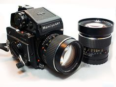 Mamiya 645 medium format with 85mm & 45mm lenses - drolling just thinking about pairing this with a roll of 120 Ilford 400 delta film