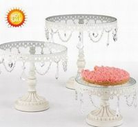 French style antique white wedding cake stand