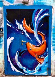 Beautify door art in Vladivostok, Russia Cool Doors, Unique Doors, Graffiti, Street Art, When One Door Closes, Knobs And Knockers, Door Gate, Russian Art, Painted Doors