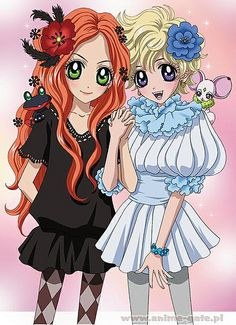 Best friends Chocolat Kato and Vanilla Ice from the Sugar Sugar Rune anime and manga series by Moyoco Anno. Manga Anime, Anime Nerd, Prince Charmant, Fanart, Shugo Chara, Another Anime, Animation, Anime Figures, Anime Shows