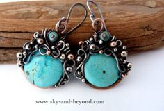Sky And Beyond Wire Wrapped Jewelry | EARRINGS