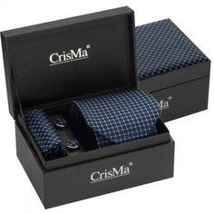 Coffret Cravate, Pochette et Boutons manchette en soie bleue  #cadeau #papa #homme  #home #cravate #soie #fashion #manchette #mode